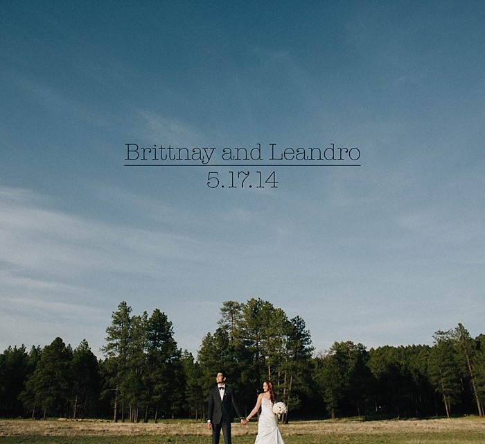 Brittnay and Leandro: A Flagstaff Cabin Wedding