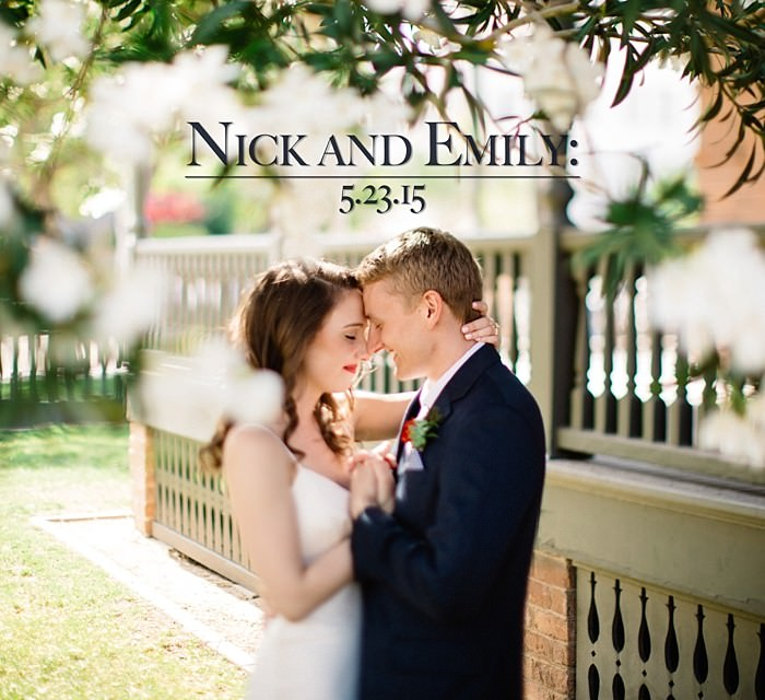 Nick and Emily: A Heritage Square Wedding