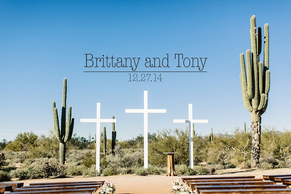 Brittany and Tony: An Arizona Desert Wedding