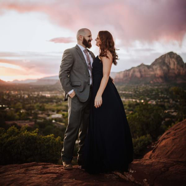 Mountain top engagement photography