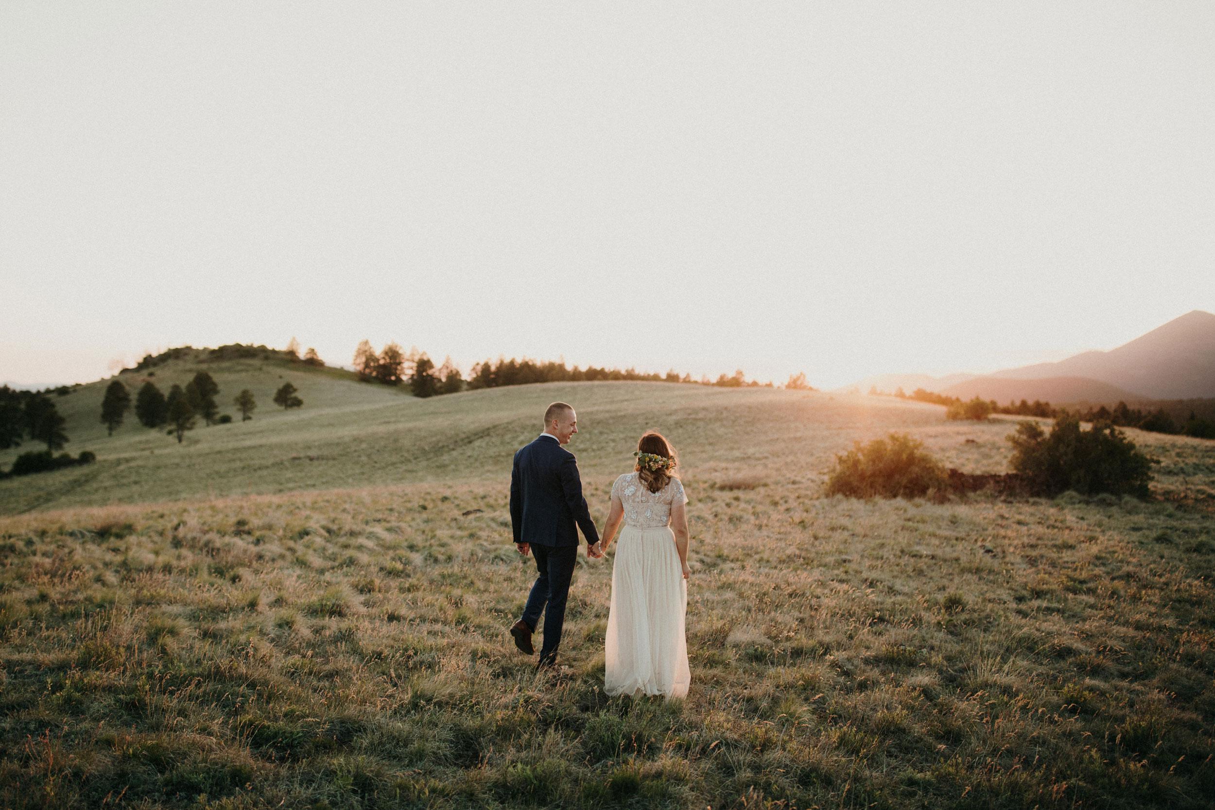 Flagstaff Sunset Wedding